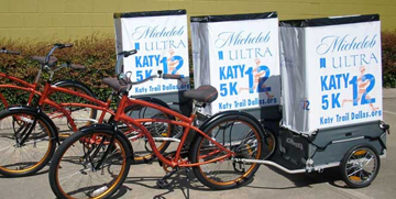 Mobile bicycle billboard for Michelob Ultra