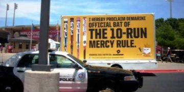 Mobile billboard advertising for Demarini