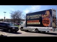 Mobile billboard truck advertising for Freebirds